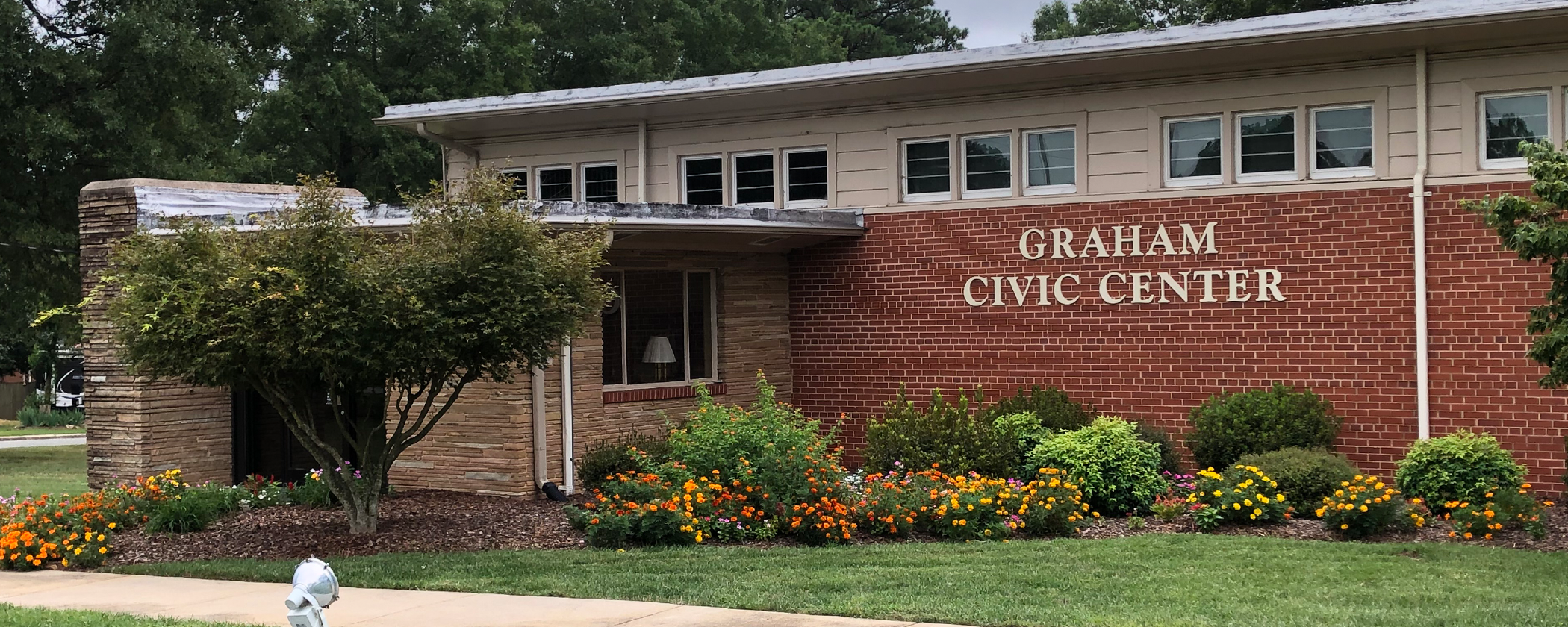 Front of the Graham Civic Center Building