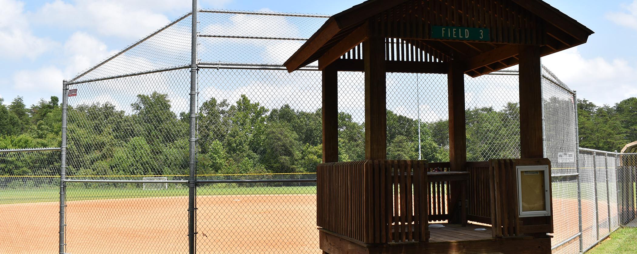 Three Lighted Baseball Fields