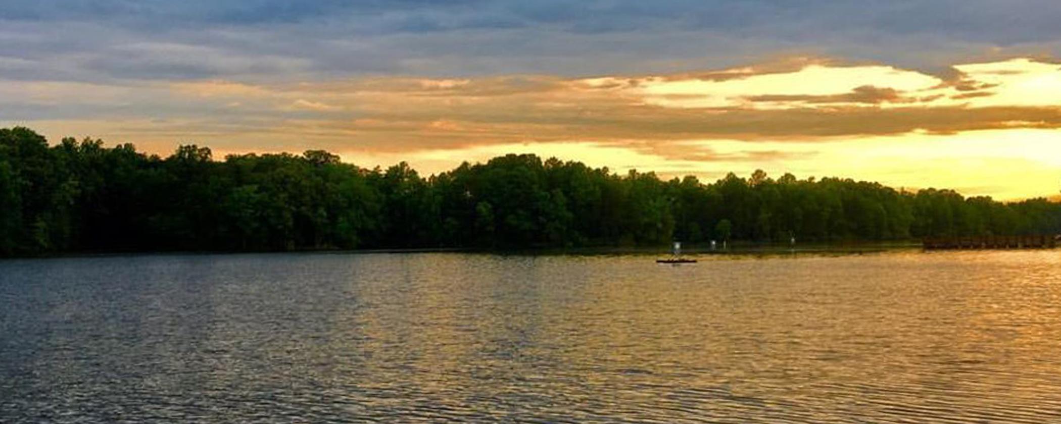 Graham Mebane Lake Sunset