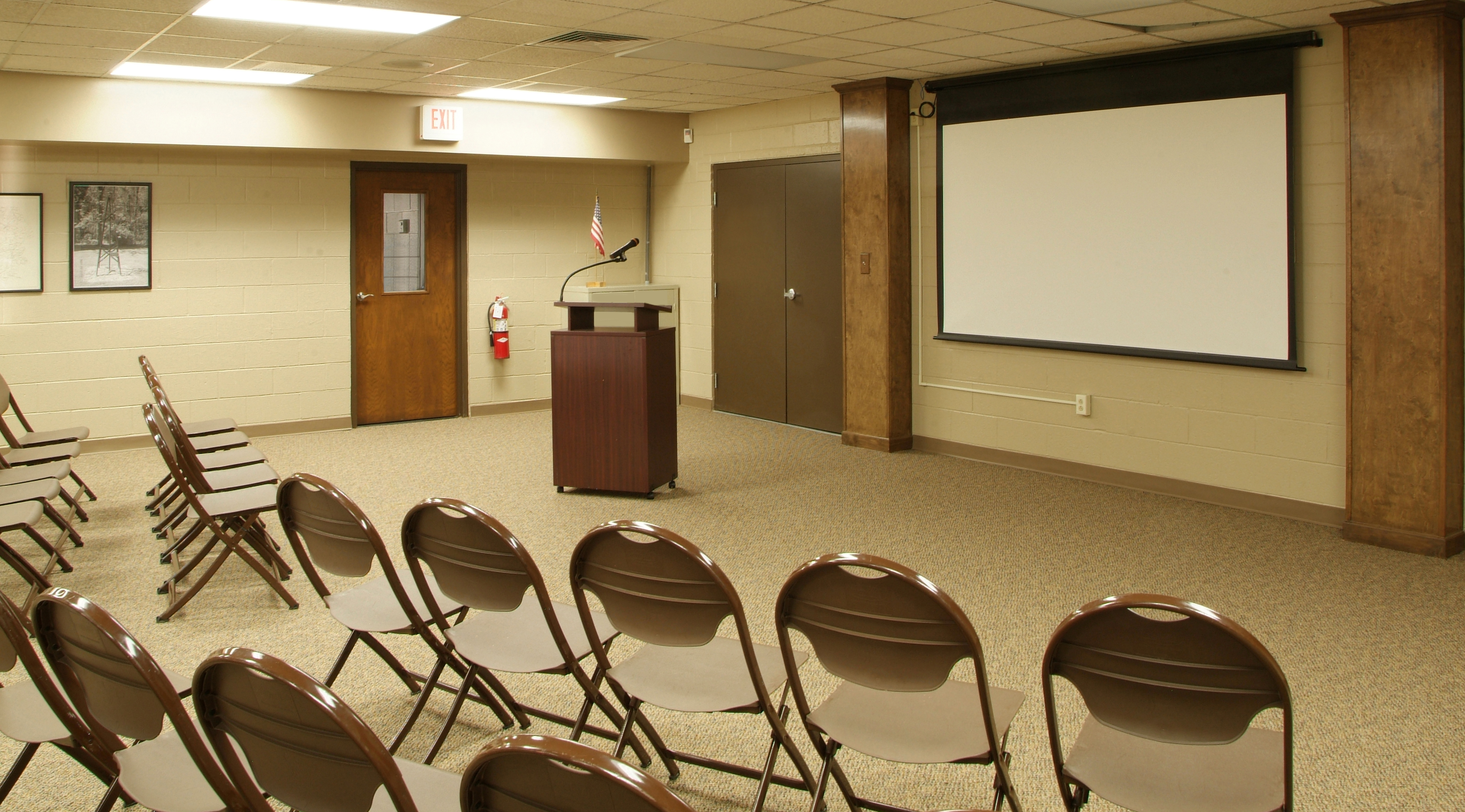 Meeting setup with audio visual