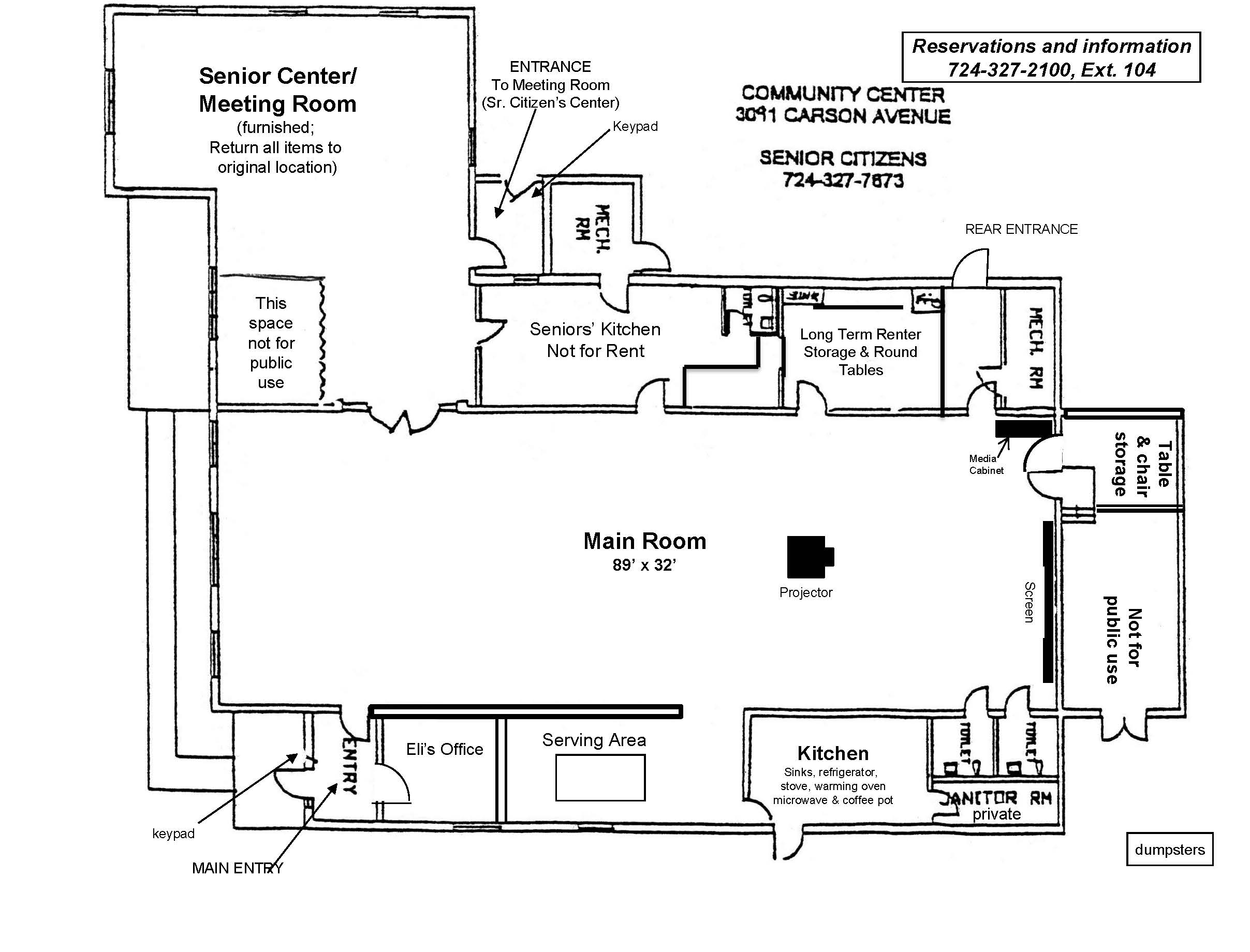 Community Center Floor Plan
