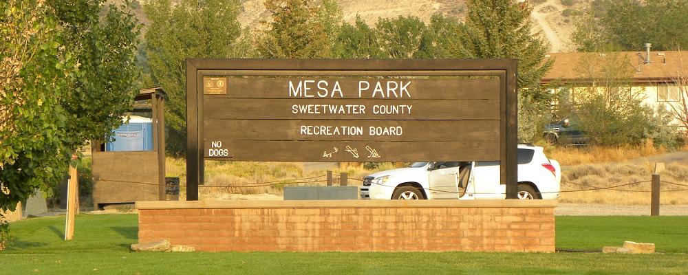 Mesa Park Sign