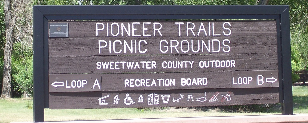 Pioneer Trails Picnic Grounds Sign