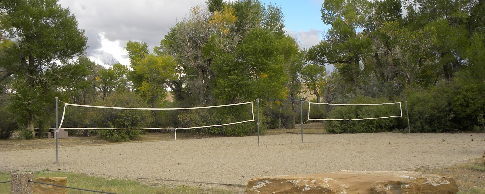 Volleyball Courts Near Main Pavilion